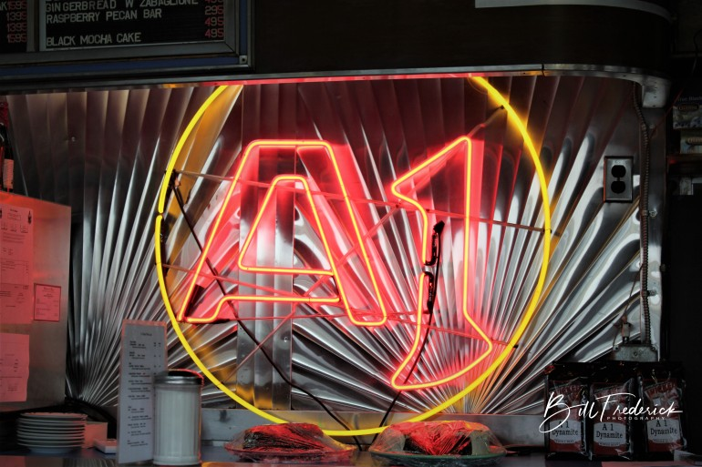 a a1 diner with sign