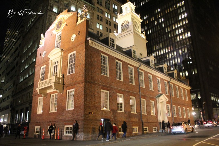 a old state house with sign