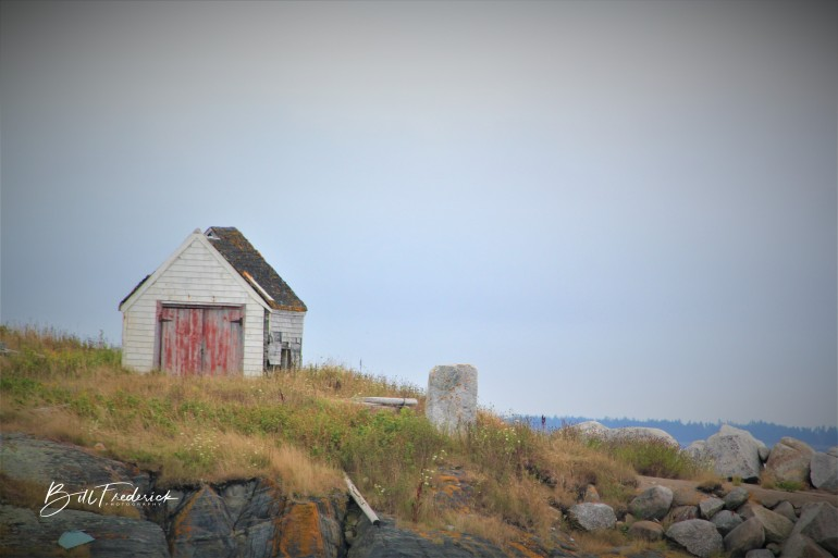 a shed nova scotia with sign