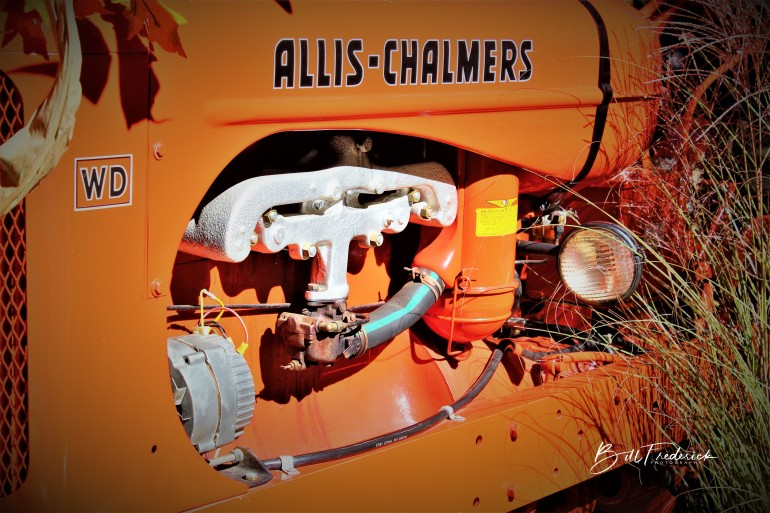 a allis chalmers with sign