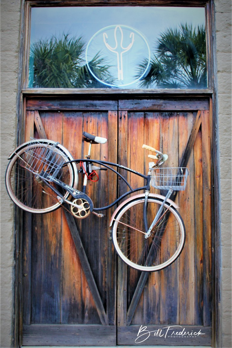 a door bike w sign