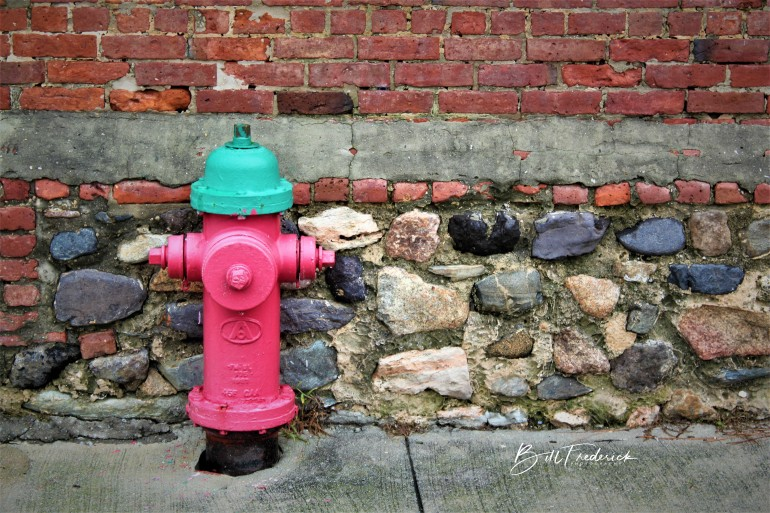 a hydrant copy with sign